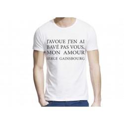 T-Shirt imprimé serge gainsbourg