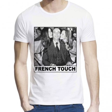 T-Shirt imprimé Jacques Chirac French touch girl ref 712