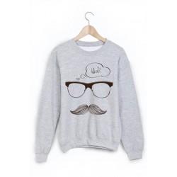 Sweat-Shirt moustache ref 859