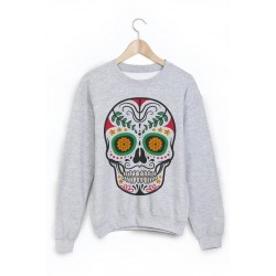 Sweat-Shirt tête de mort mexicaine ref 864
