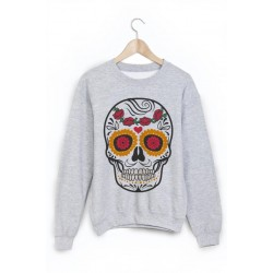 Sweat-Shirt tête de mort mexicaine ref 865