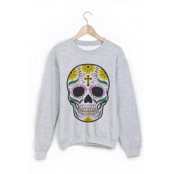 Sweat-Shirt tête de mort mexicaine ref 866