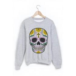 Sweat-Shirt tête de mort mexicaine ref 866