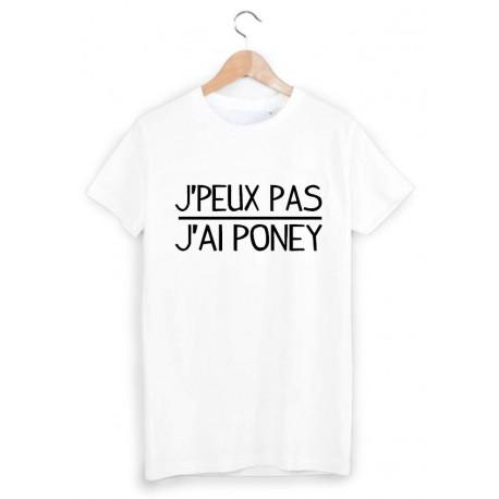 T-Shirt je peux pas j'ai poney ref 1062