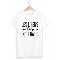 c40a7233b9a04 T-Shirt Enfant 2 à 12ans les chiens ne font pas des chats ref 1059