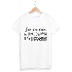 36c5a6755dada T-Shirt Enfant 2 à 12ans prince charmant et licorne ref 1063