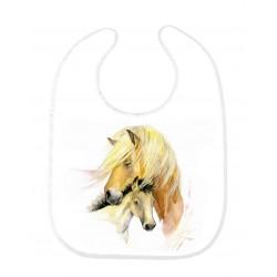 Bavoir bébé cheval ref 146