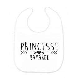 Bavoir bébé princesse bavarde ref 170