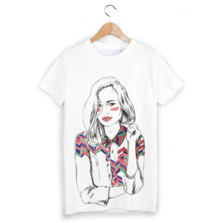 ebeda9fbcce0d T-Shirt Enfant 2 à 12ans girl ref 1427