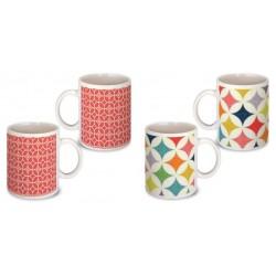 Lot de 2 Mugs déco rétro