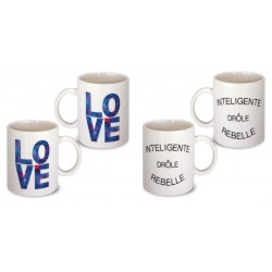 Lot de 2 Mugs déco love