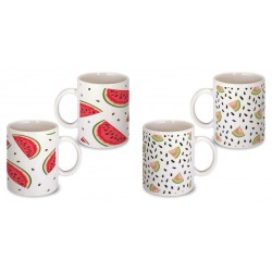 Lot de 2 Mugs déco pasteque