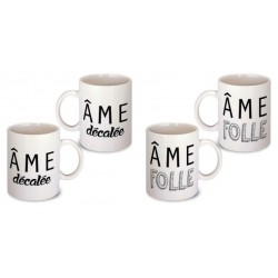 Lot de 2 Mugs déco citation