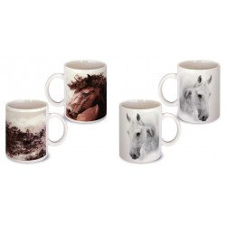 Lot de 2 Mugs cheval