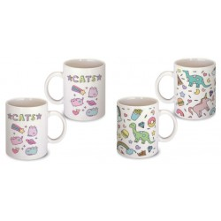 Lot de 2 Mugs chat licorne