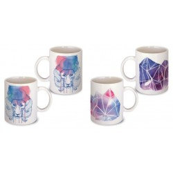 Lot de 2 Mugs illustré art