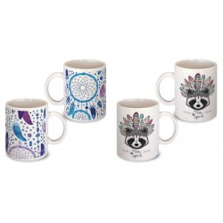 Lot de 2 Mugs attrape reve indien