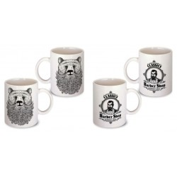 Lot de 2 Mugs illustré barbe