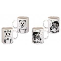 Lot de 2 Mugs zebre panda