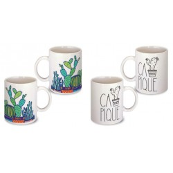 Lot de 2 Mugs cactus