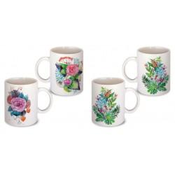 Lot de 2 Mugs illustrés végétaux