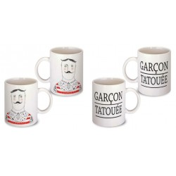 Lot de 2 Mugs tatoué