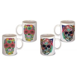 Lot de 2 Mugs tete de mort
