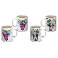 Lot de 2 Mugs illustrés psychedelique