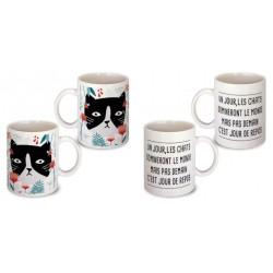 Lot de 2 Mugs un jour les chats domineront le monde