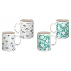 Lot de 2 Mugs art