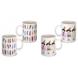 Lot de 2 Mugs illustrés
