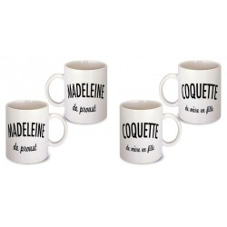 Lot de 2 Mugs citations