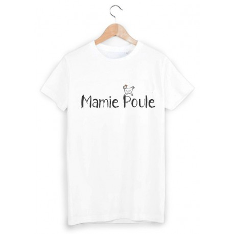 T-Shirt imprimé mamie poule ref 1803
