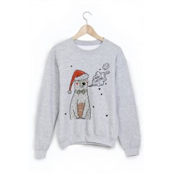 Sweat-Shirt imprimé ours noel