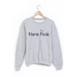 Sweat-Shirt citation Mamie poule