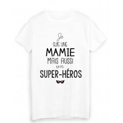 T-Shirt Je suis une mamie super héros fete des grands meres