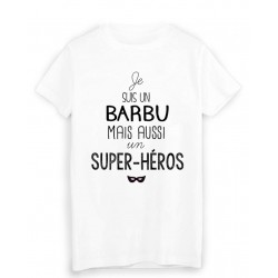 T-Shirt citation Je suis un barbu super héros