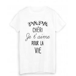 T-Shirt citation papa chéri je t'aime