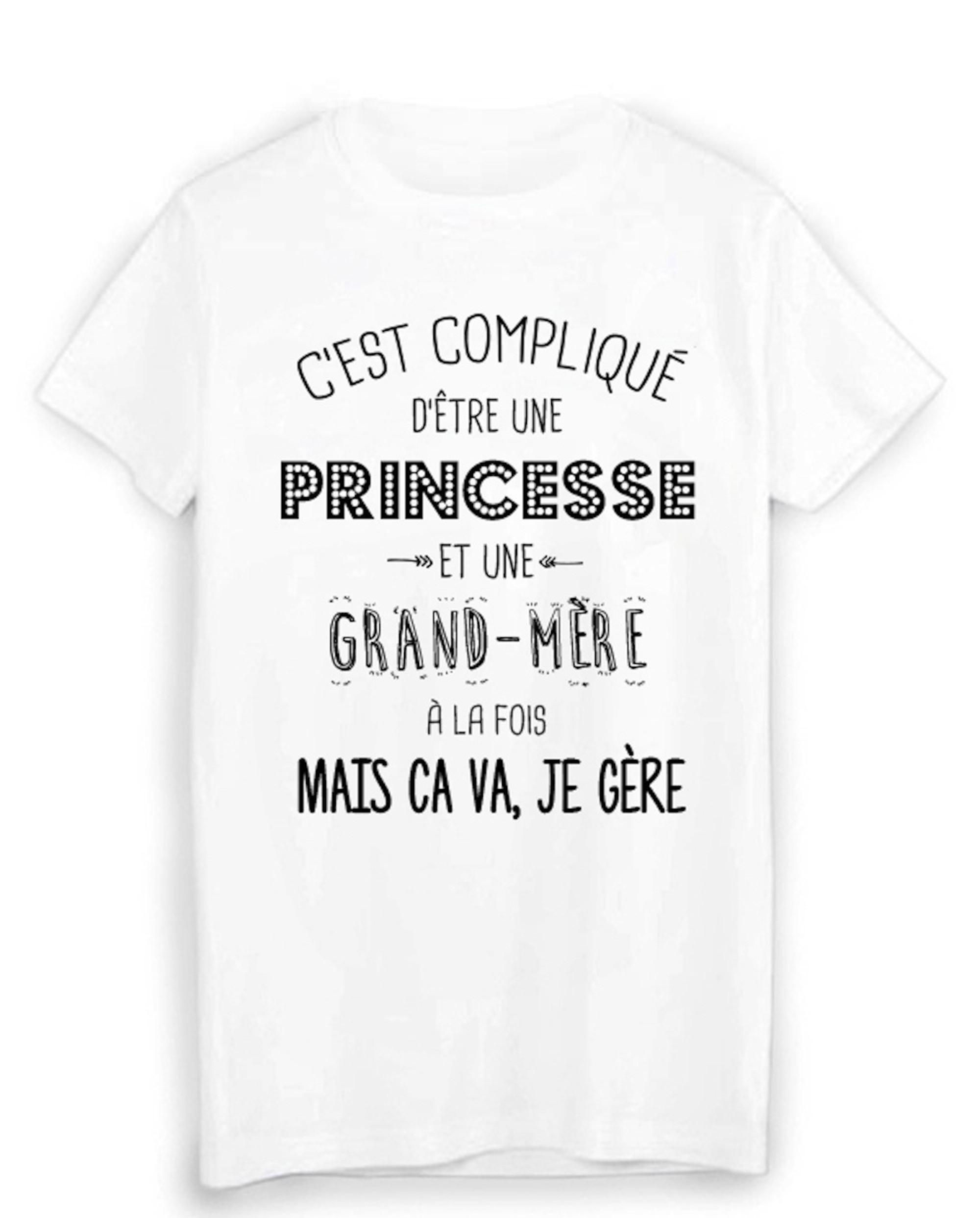 T Shirt Citation Humour C Est Complique D Etre Une Princesse Et