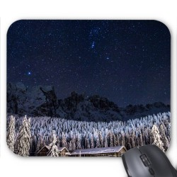 Tapis de souris Neige montagne étoiles réf 3623