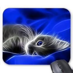 Tapis de souris Chat design bleu réf 3659