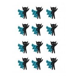 Stickers Autocollants enfant déco Planche A3 Chats design réf 100