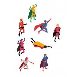 Stickers Autocollants enfant déco Planche A3 super héros réf 102