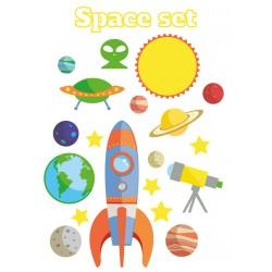 Stickers Autocollants enfant déco Planche A3 Fusée espace réf 122