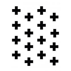 Stickers Autocollants déco Planche A3 Croix réf 146