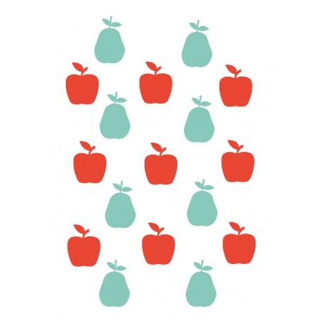 Stickers Autocollants enfant déco Planche A3 Fruits pommes réf 149