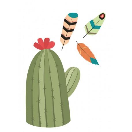 Stickers Autocollants déco Planche A3 indiens cactus réf 185