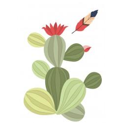 Stickers Autocollants déco Planche A3 indiens cactus réf 186