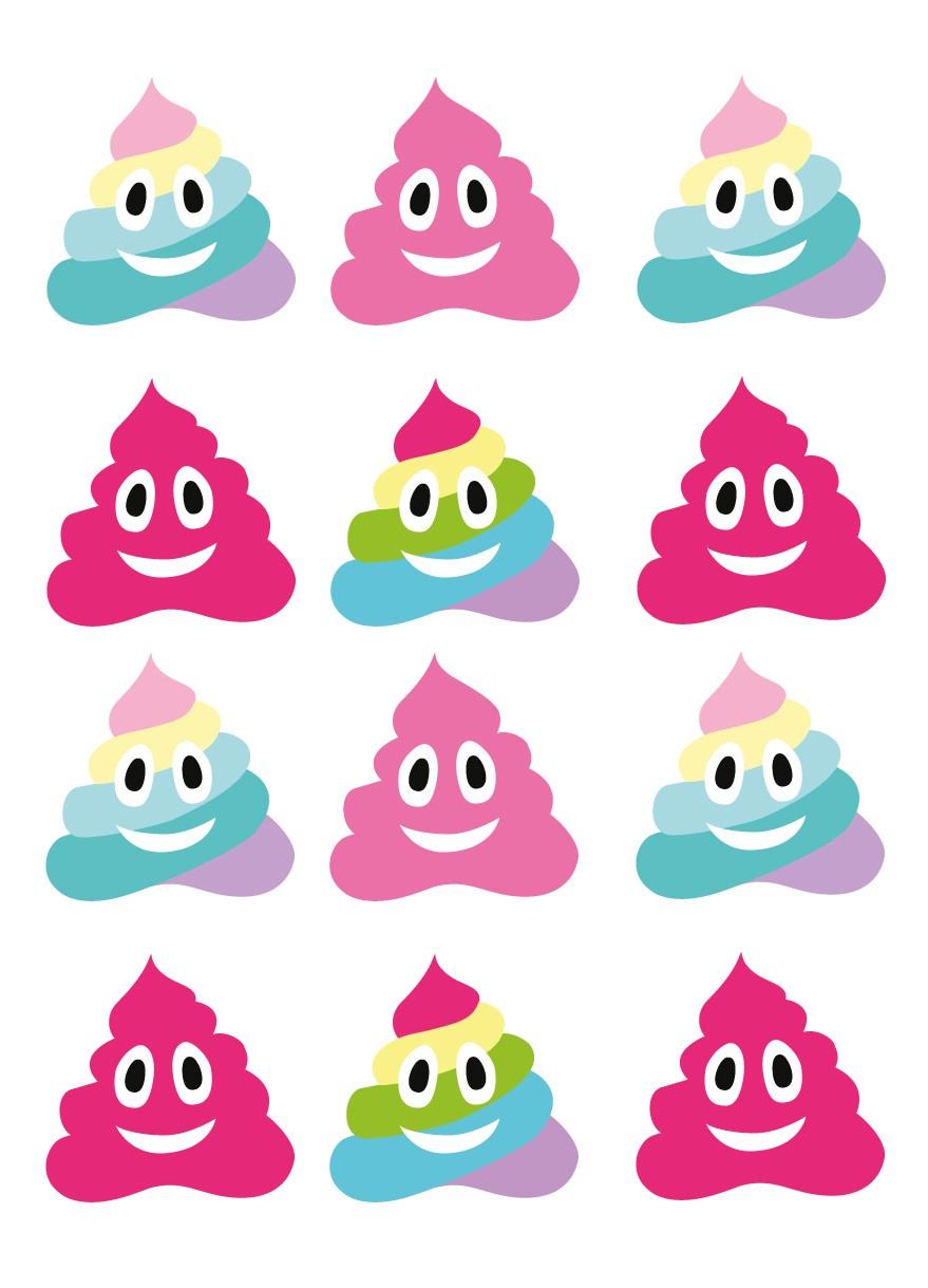 Stickers Autocollants Enfant Planche A3 Déco Glaces