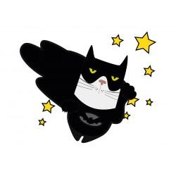 Stickers Autocollants enfant déco Planche A3 chat héros réf 221